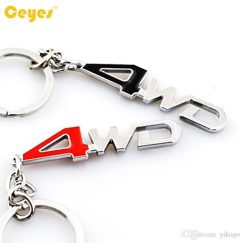 Catena chiave dell'automobile logo del marchio 4WD Emblem Badges Nissan audi opel toyota Ralli arte bmw 3D Car logo in metallo portachiavi