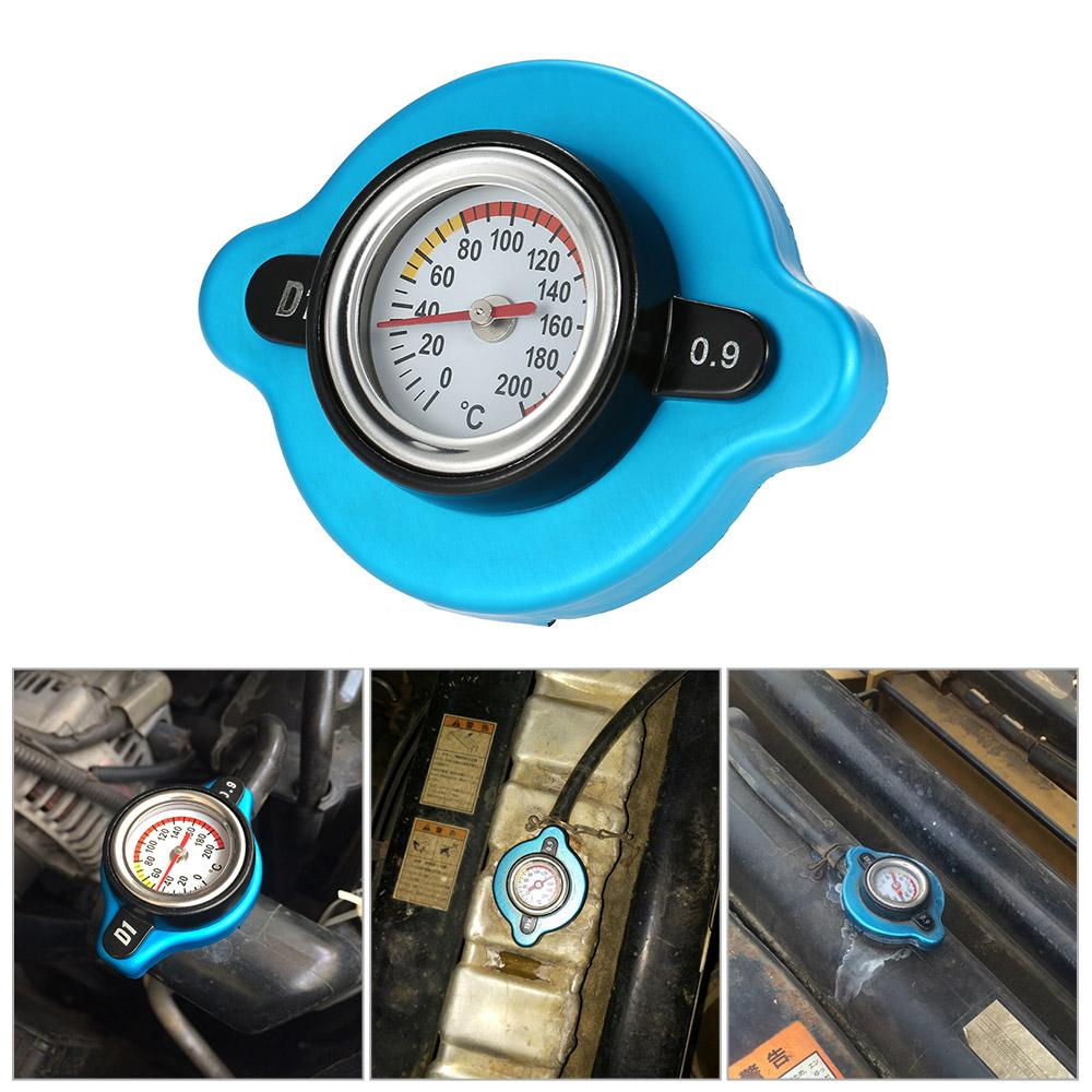 KKMOON 0.9 Bar Thermostatic Radiator Cap Cover with Water Temp Temperature Gauge for Truck Forklift Trailer