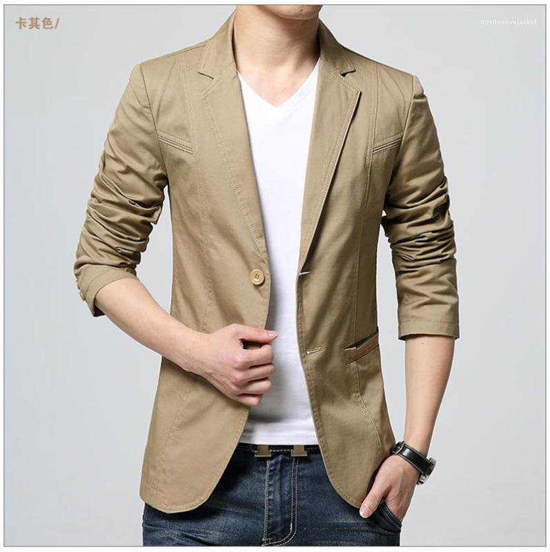 Ceket Yaka Yaka Uzun Kollu Katı Renk Homme Coats Moda Tek Breasted Erkek Giyim Erkek İlkbahar Tasarımcı