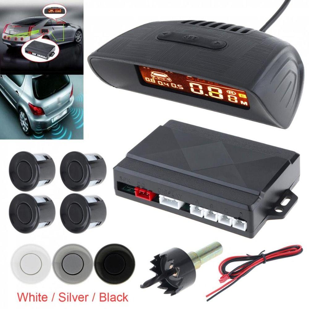 Sensor de Aparcamiento 4x Atrás Pdc Inalámbrico Monitor para Muchos Vehículos