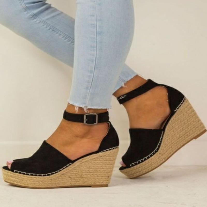 Hot Sale-Keil-Sandale Stil Sommer Mode entspannt Sandale US5 ~ US11