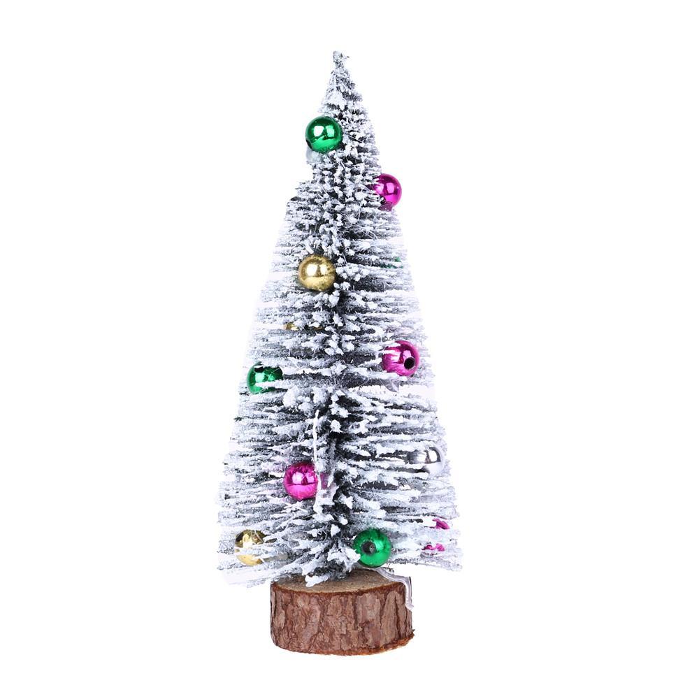 Weihnachtsbaum 2018 Hot Handmade Weihnachtsbaum Mini Kiefer mit Holzgestell DIY Heim Tabelle Top-Dekor Nov5