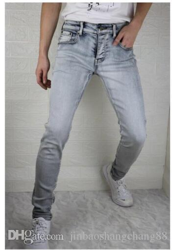 SICAK STİL LUPP2 VGU ÜNLÜ MARKA ERKEK TASARIM RAHAT İNCE YAZ HAFİF Stretch Skinny Jeans Düz Biker Skinny 871 YIKANMIŞ