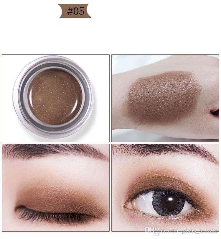 Hot Glitter sombra em pó Maquiagem YANQINA Olhos Paint Bucket 5 cores Maquiagem à prova d'água flash Sombra Shimmer Matte Sombra Creme