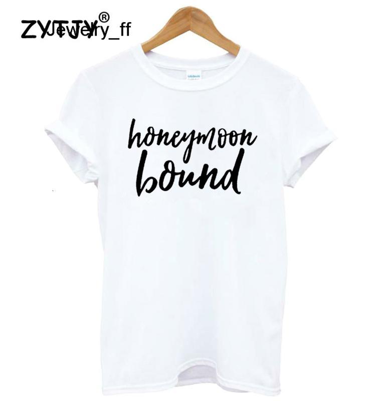 Luna di miele lettere Bound Stampa donne maglietta camicia di cotone casuale divertente T Per magliette signora Girl Top Tee Hipster marchi Promozione