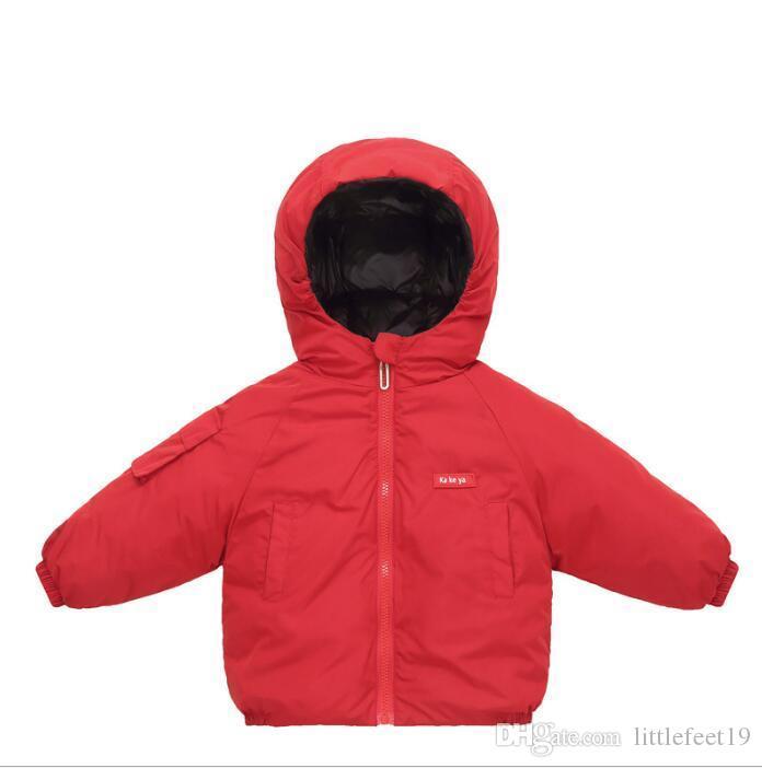 Outono e inverno doce cor roupas de bebê para crianças nova jaqueta para baixo fina das crianças jaqueta de crianças
