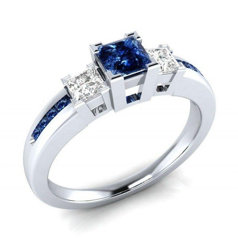 Anelli gioielli di moda di Zircon d'avanguardia di rame 4 colori per Ring regalo delle donne del partito aggancio di cerimonia nuziale Size 6-10