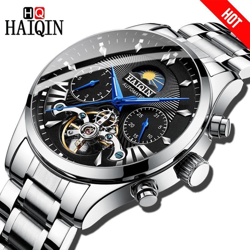 HAIQIN montres pour hommes / hommes de marque supérieure luxe automatique / mécanique / montre de luxe hommes sport montre-bracelet mens reloj hombre tourbillon J190522