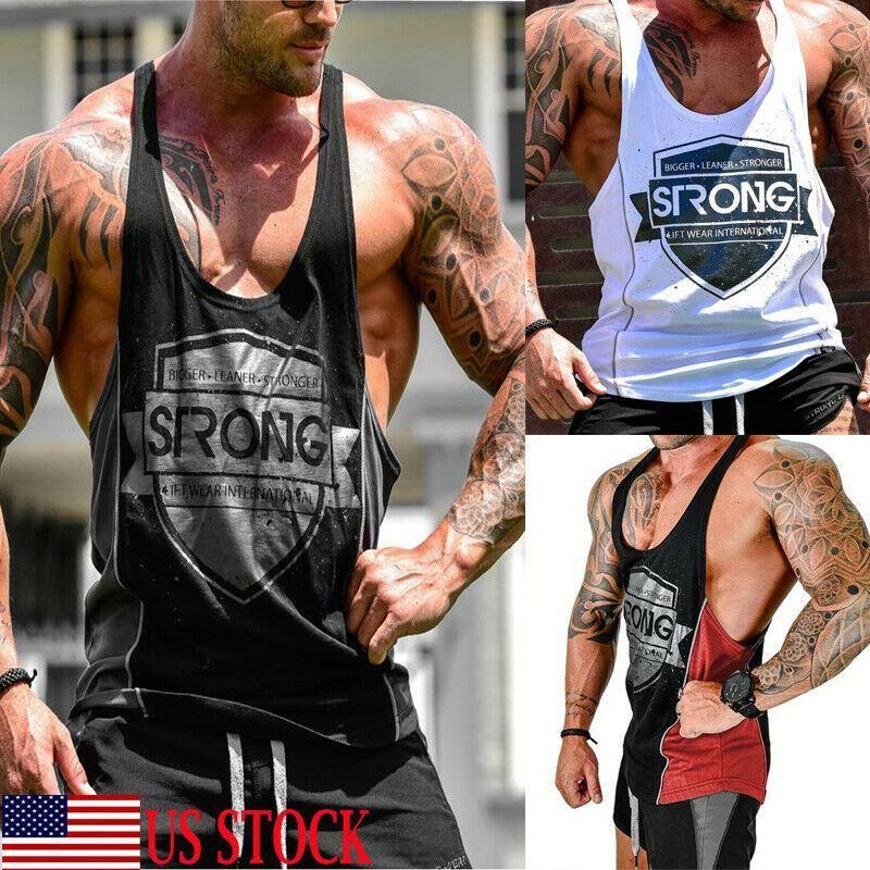 Femininos US Muscle Gym shirt de alças Sports Musculação Academia Atlético Vest NOVO Casual Tops letra impressa Tanque