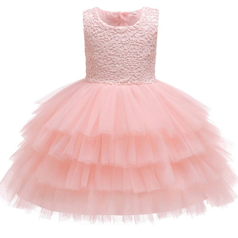 Infant Girls Baptism Dress Toddler Kids Wedding Christmas 1 Year Baby Birthday Party Dresses Outfits Children Clothing Q190518