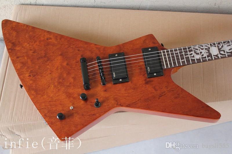 frete grátis 2019 new guitarra elétrica atacado em forma de guitarra marrom-avermelhada