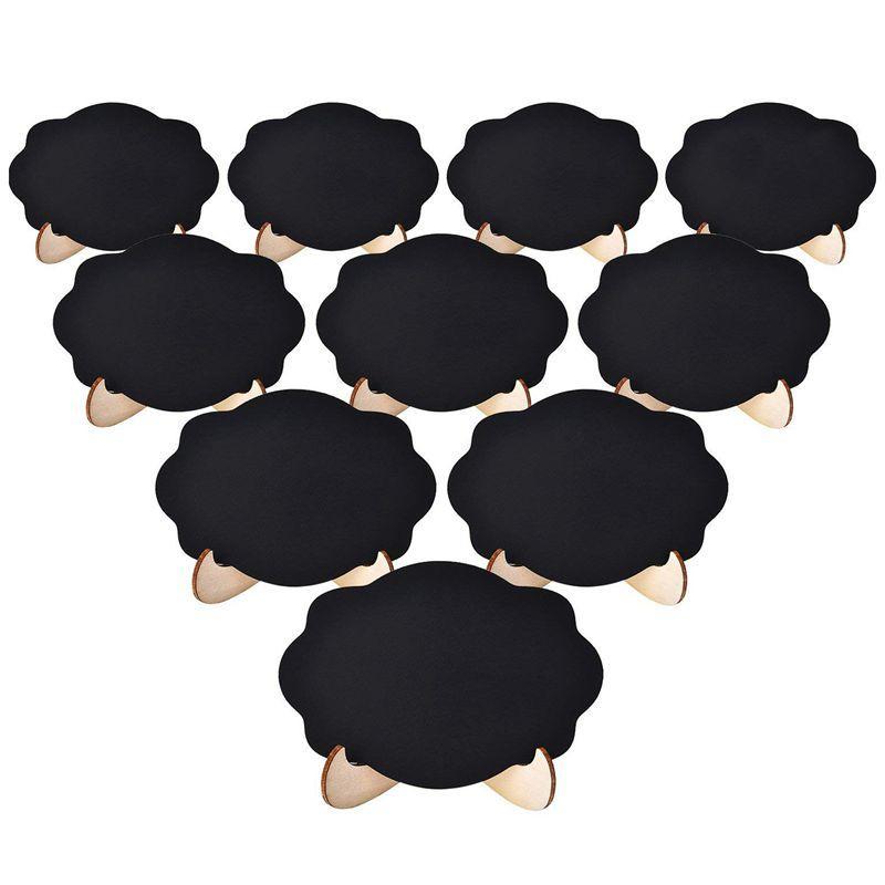 Mini lavagna Segni Piccola Lavagna 20pcs con struttura in legno Cavalletto per i bambini Artigianato e Wedding Party Event Table Decor