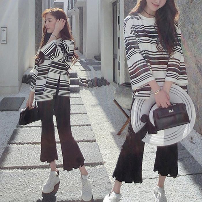 Maternité costumes Casual manches longues et un pantalon insirong femmes enceintes soulever un pantalon abdominale marée