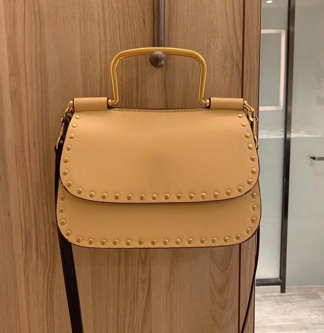 Bolso del diseñador de las mujeres de cuero bolso del remache de alta calidad de manera de la simplicidad # CFY2002264