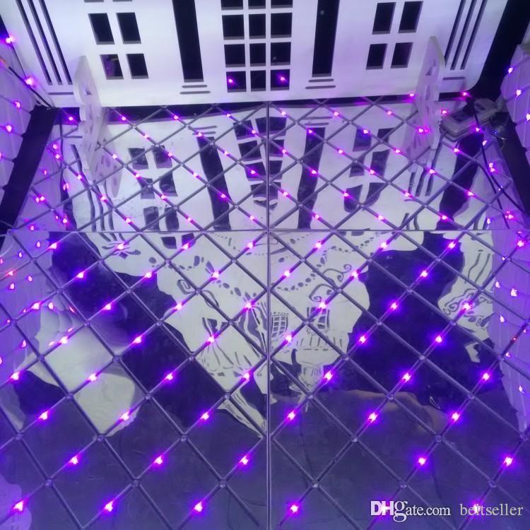 وصول جديدة لامعة يرتكز الزفاف ديكور 60CM * 60 سم كريستال LED الزفاف مرآة السجاد الممر عداء محطة T المرحلة الدعائم الزفاف