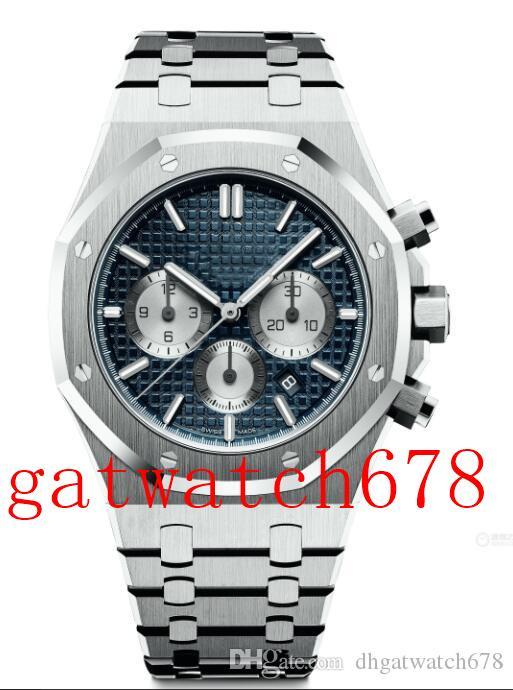 Qualität Armbanduhr Königs 26331ST.OO.1220ST.01 41mm Steel Blue VK Quartz Chronograph Working Mens-Uhr-Uhren