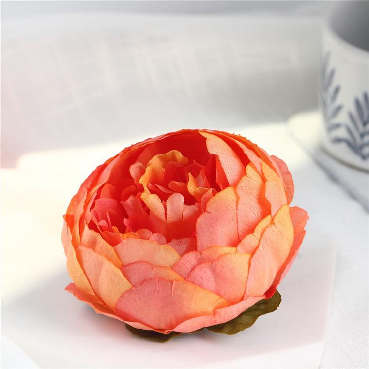 Sıcak 10 cm Yapay Çiçekler Düğün Süslemeleri Için Ipek Şakayık Çiçek Kafaları Parti Dekorasyon Çiçek Duvar Düğün Backdrop