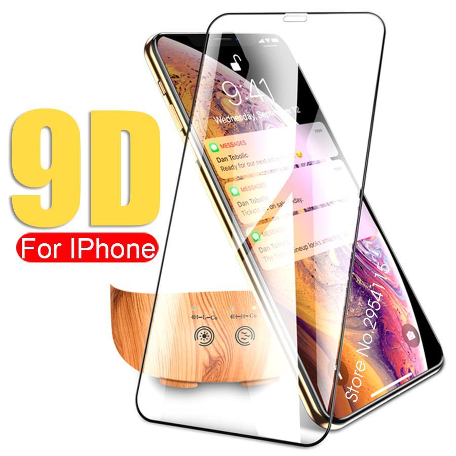 iphone max xr x 10 8 7 6 6s artı tam temperli cam xs elma AIPHONE xsmax rx sx güvenliği 9d tam tutkal ekran koruyucusu gözlük
