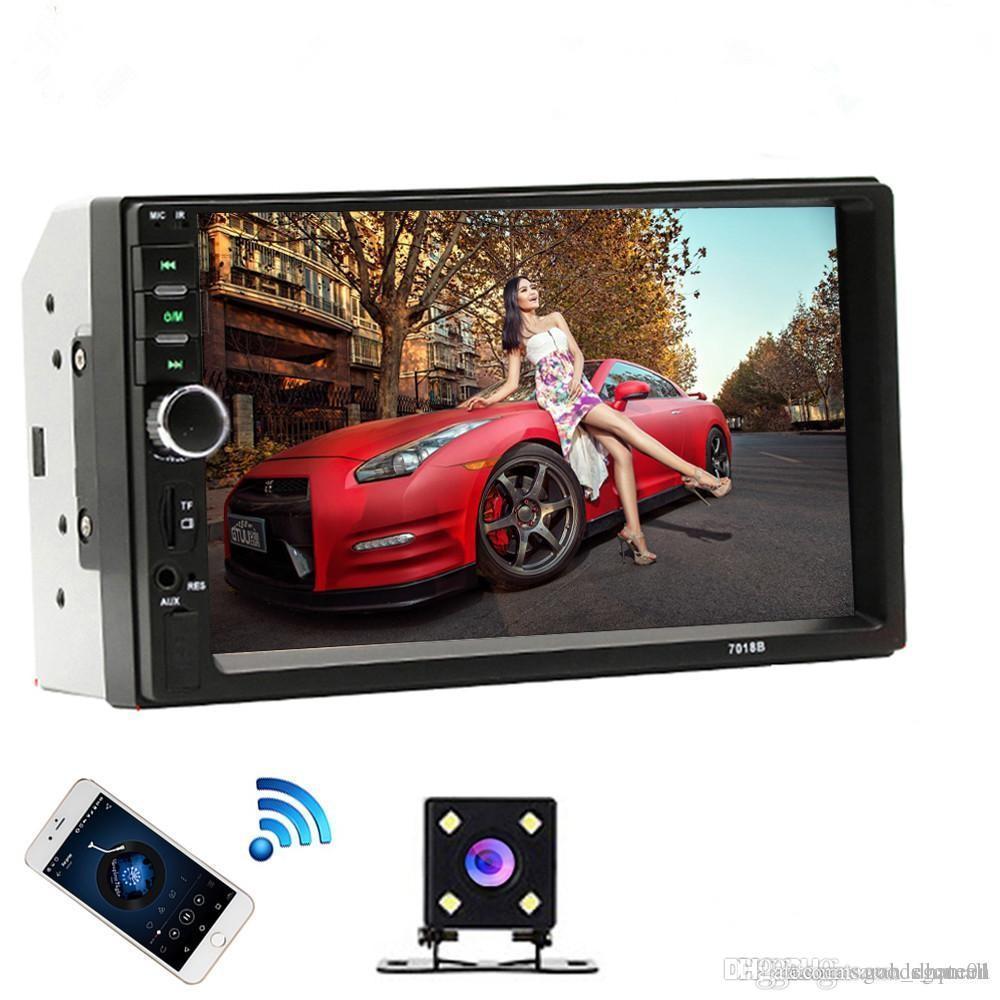 2 الدين سيارة راديو بلوتوث 2DIN سيارة الوسائط المتعددة لاعب 7 HD التي تعمل باللمس Autoradio MP5 USB صوت ستيريو مع كاميرا للرؤية الخلفية