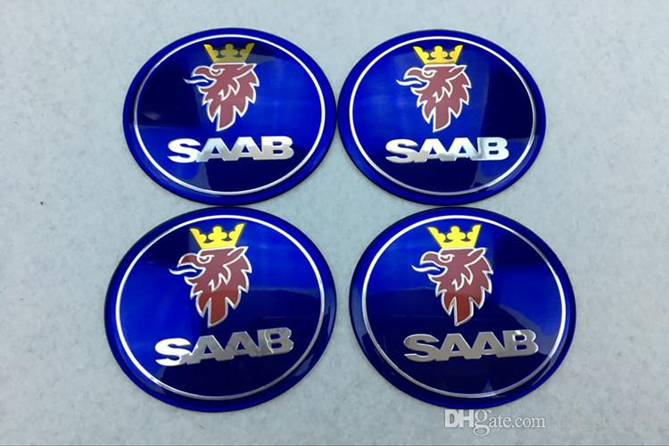 56.5mm 65mm Araba Amblem Tekerlek Merkezi Hub Cap SAAB 9-3 9-5 93 95 BJ SCS Rozet tekerlek Decal Sticker
