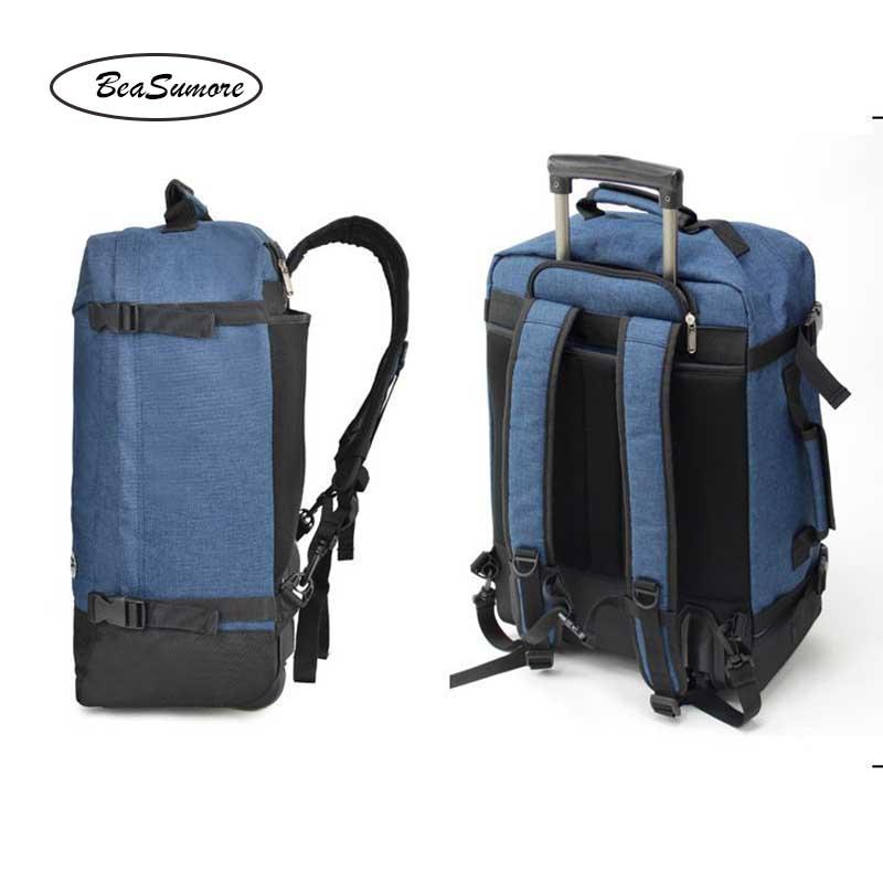 BeaSumore Super light Shoulders Travel Bag 20 inch Large Capacity Backpack Men Business Laptop bag Suitcases Wheel