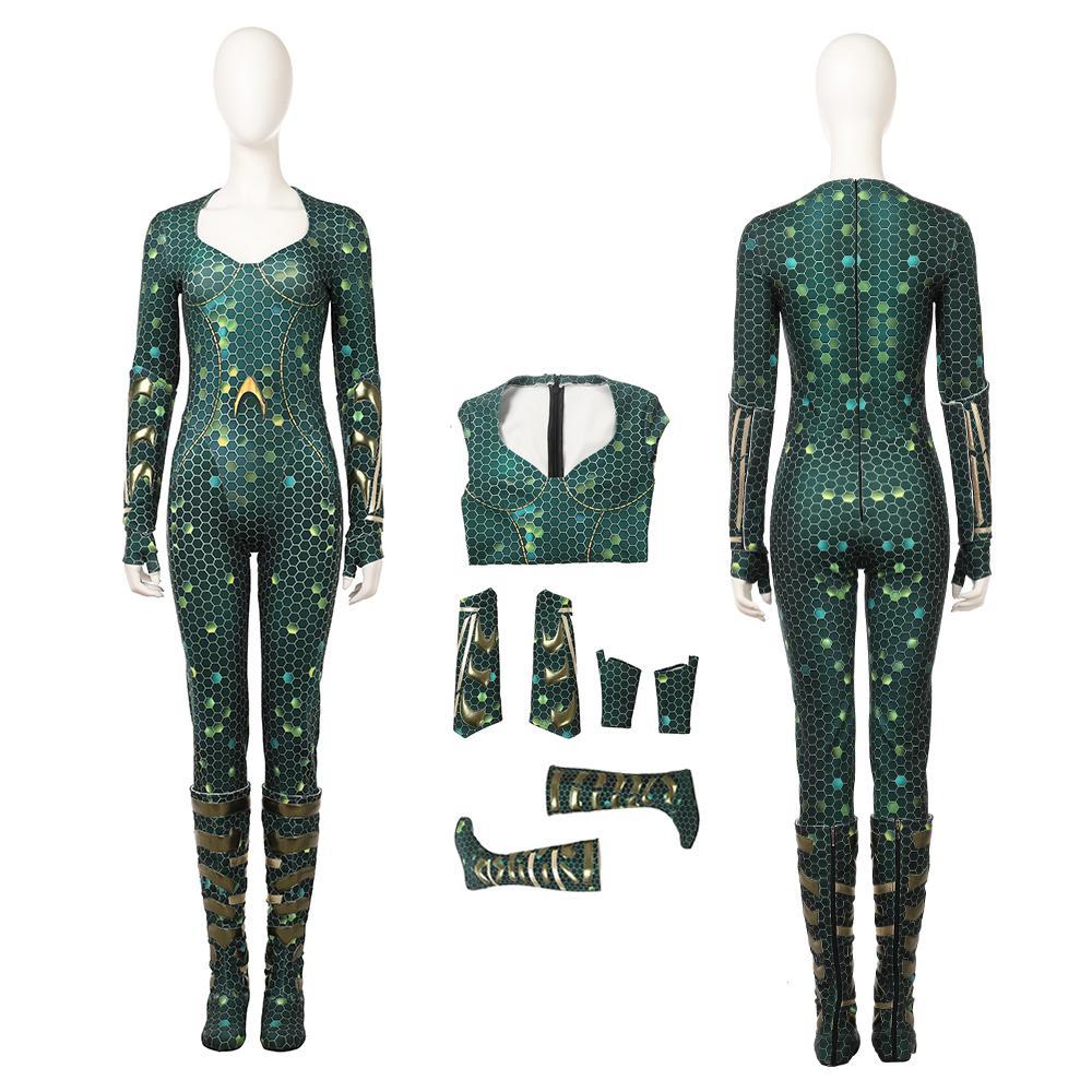 Mera Costume Aquaman Cosplay Set Halloween femmes Outfit