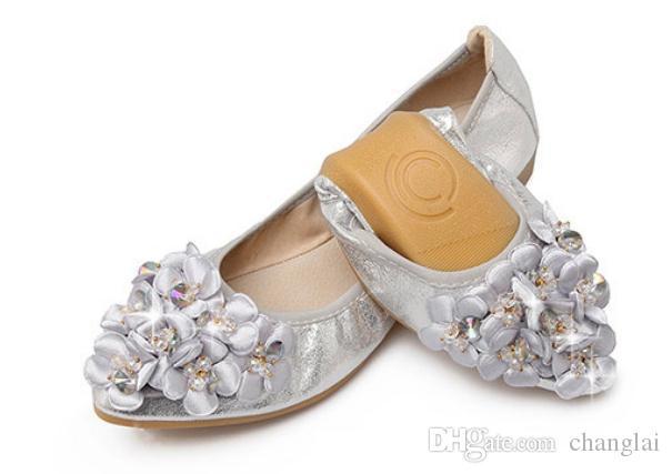 2019 Женская обувь весной и осенью с новым типом плоским дном заостренным концом воды дрель @ 2054