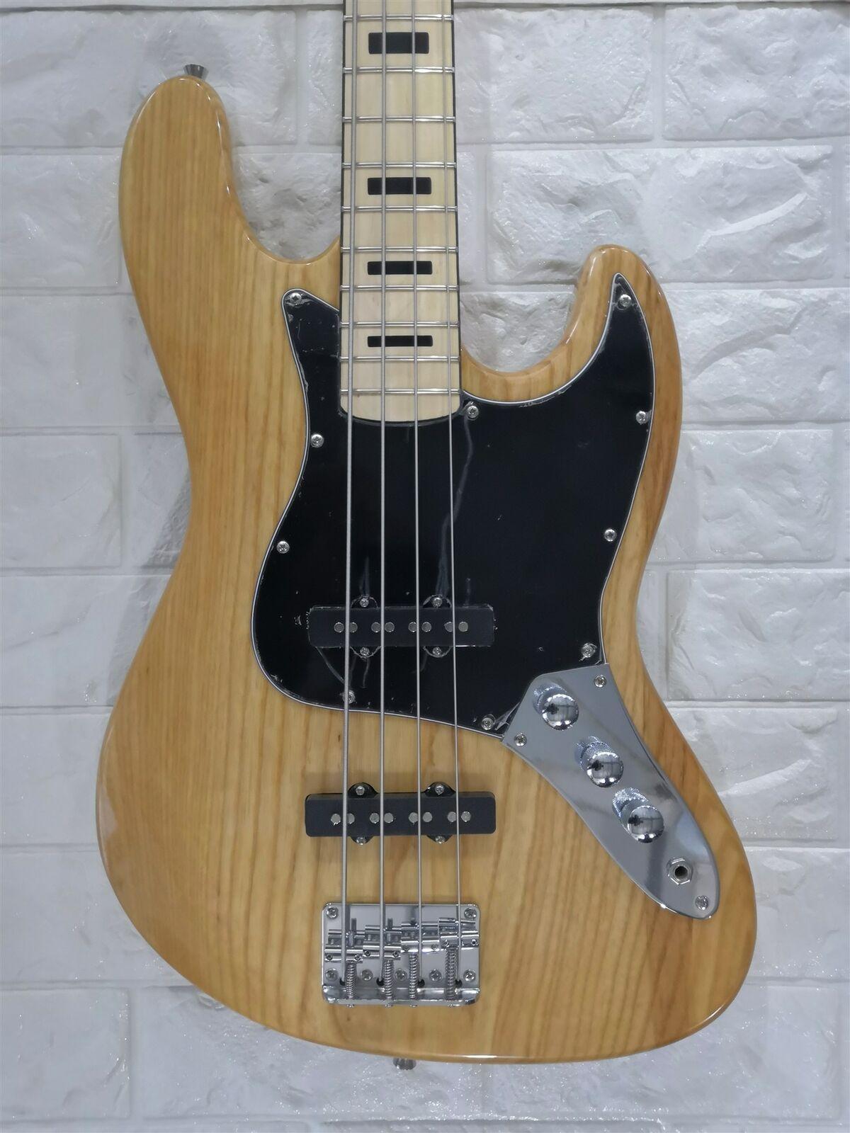 Yeni Elektrik Bas Gitar Caz Bas 4 Strings Doğal Renk Krom Donanımları