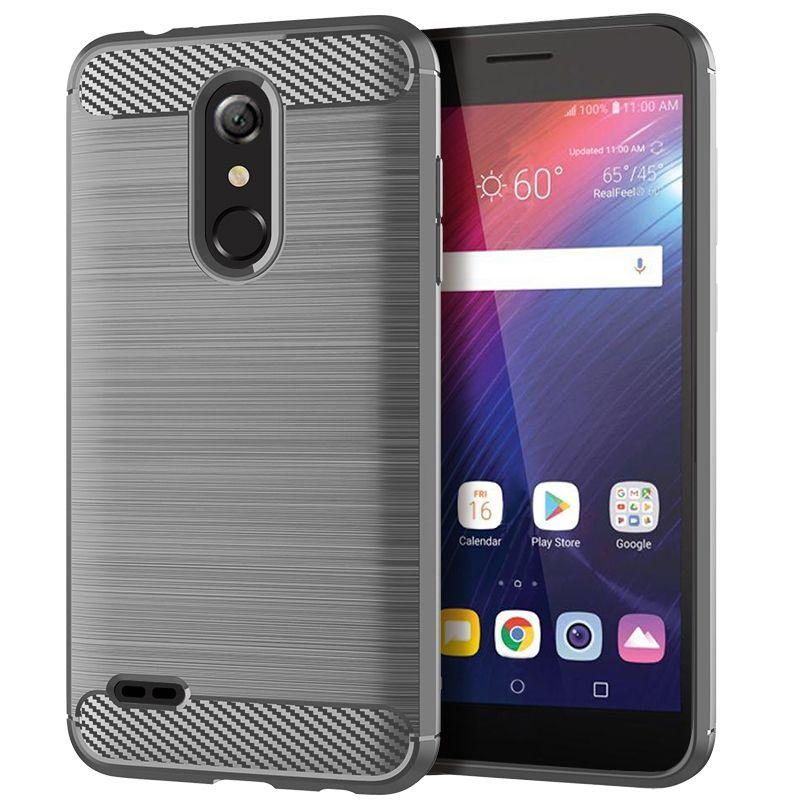 Luxe en fibre de carbone étui souple en silicone TPU pour LG Harmony 2 Anti Scratch anti-choc arrière anti-choc pare-chocs Couvertures