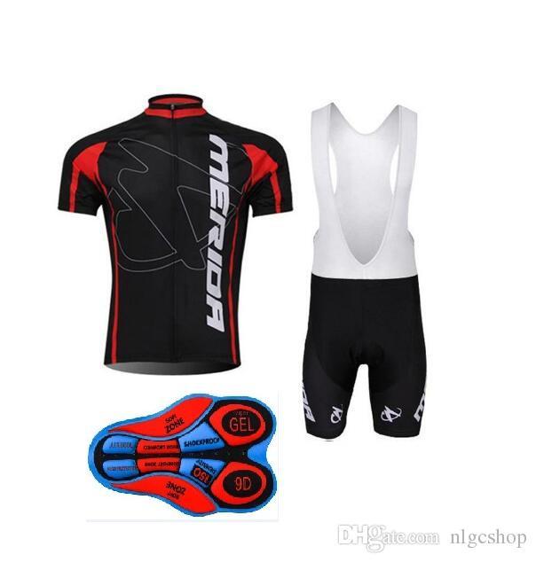 2018 o novo MERIDA Ciclismo manga Curta jersey (bib) shorts conjuntos mais recente manga curta ropa ciclismo hombre terno moda confortável desgaste ou