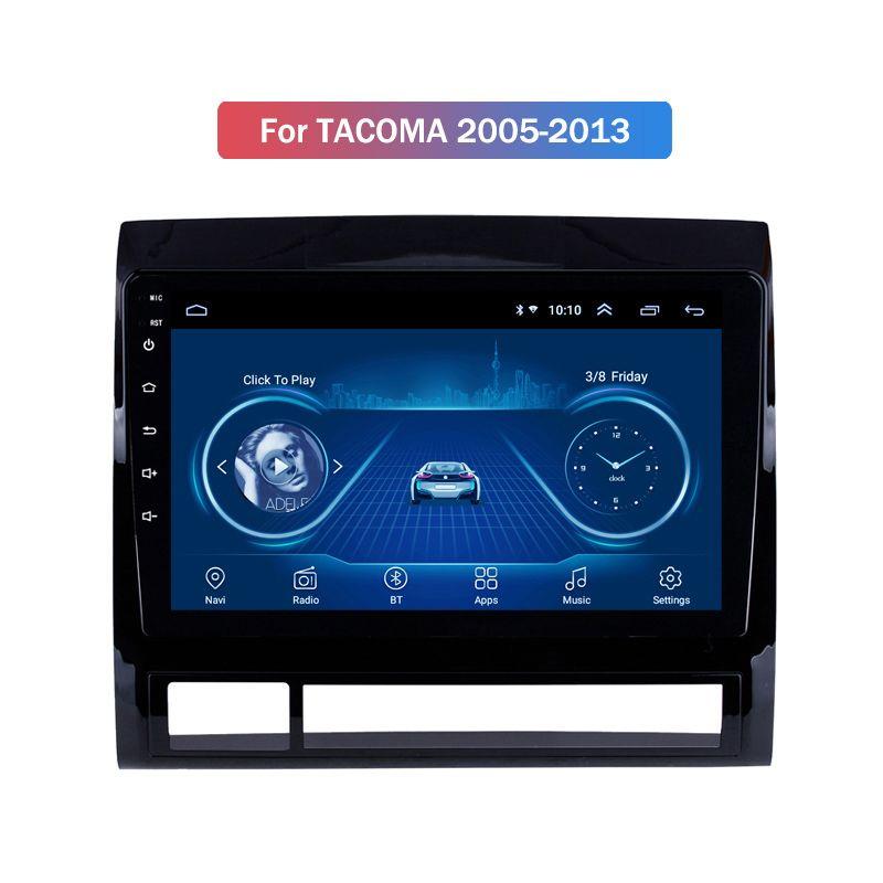 Car Multimedia Player 9 polegadas para Toyota Tacoma 2005-2013 ROM 16GB 4-core Android 10 Car Stereo GPS SWC