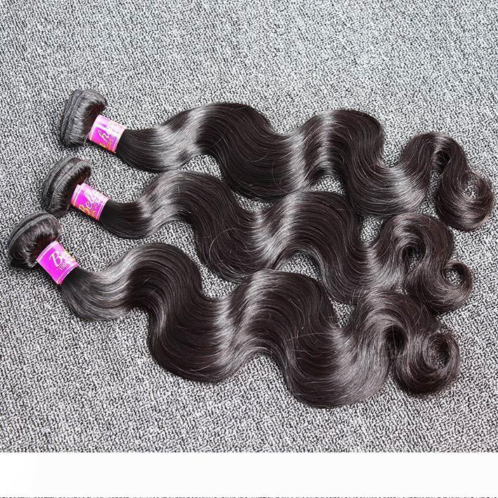 Bella Hair? 8A High Quality Brazilian Human Hair Weaves 3pcs lot Brazilian Hair Extensions Natural Color Body Wave Hair Weft Free Shipping