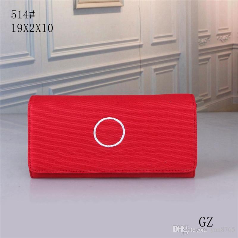 Französisch-Designer Kupplung lange Rote Handtasche weibliche Handtasche lange Handtasche Student koreanische nette Dame Leinwand 2020 neue Art und Weise Beutel