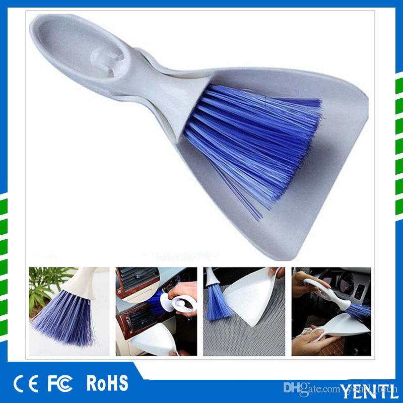 free shipping car brush Mini Desktop Sweep Cleaning Small Broom Dustpan Set Air Conditioner Dashboard Laptop Computer Keyboard Cleaner Tool