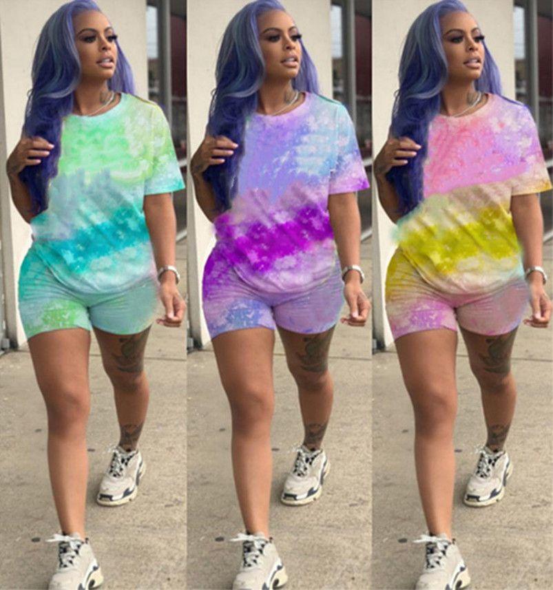 Abiti da donna Sportswear Outfits 2 pezzi Set Set Brand Tracksuit Tshirt + Pantaloncini Casual Sport Suit New Hot Selling Womens Abbigliamento KLW3779