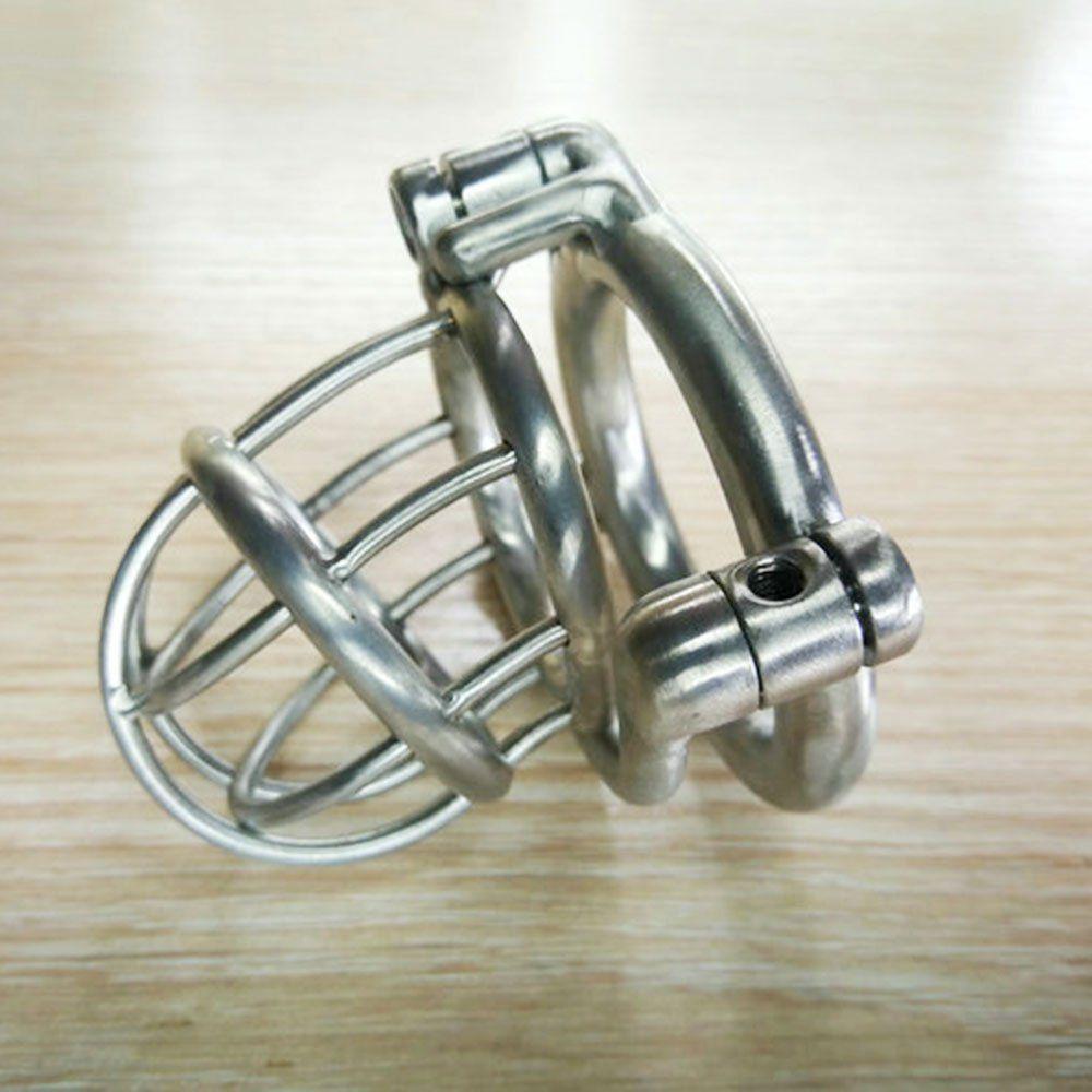 Castidade Masculino Chasity pica gaiolas de aço bondage engrenagem de aço inoxidável Man Penis Cbt parafuso e Bloqueio Permanente Mens Brinquedos Novo Design