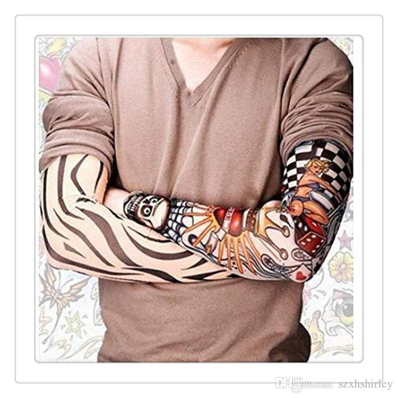 6Pcs Tattoo Apparel Women Tattoo Sleeves Temporary Fake Slip On Tattoo Arm Sleeves Kit New Fashion Sunscreen Arm Sleeves to Cover Tattoos