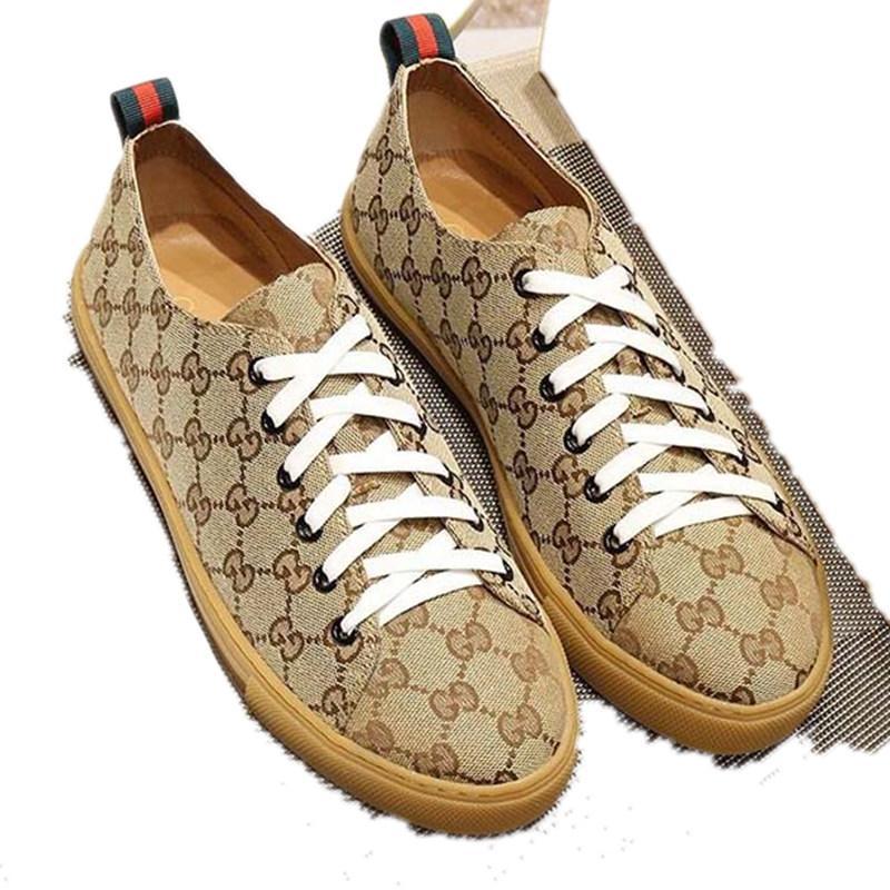 2020 GUCCI Shoes women mens trainers marque luxe en plein air toile chaussures sport, chaussures de sport imprimés de couleur unie, boîte de ceinture perméable à l'air confortable