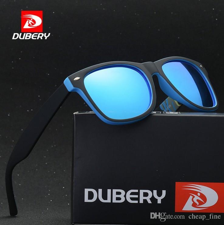 DUBERY 2019 Polarized pilot Sonnenbrille Herren Retro Männlich Bunt Sonnenbrille Für Herren Mode Luxus Spiegel Shades Sonnenbrille
