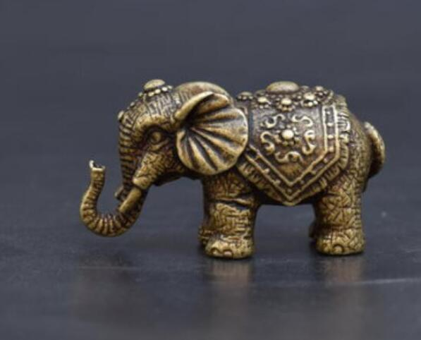 copper China collection archaize solid brass Elephant Small statue free shipping