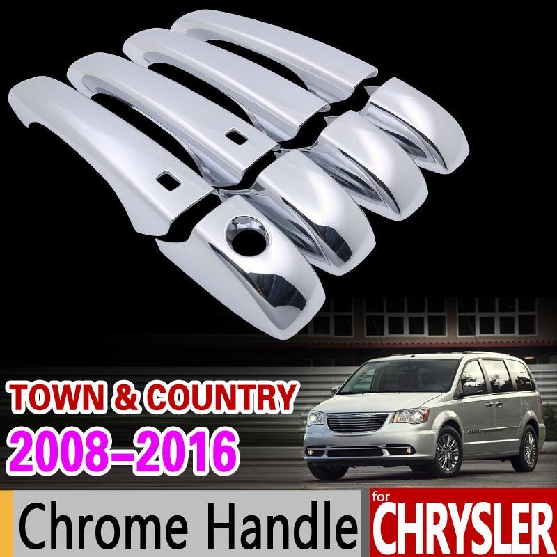 Car Chrome Door Handle Cover Trim Set for Chrysler Town & Country Lancia Voyager Dodge Caravan VW Routan Ram C/V Accessories