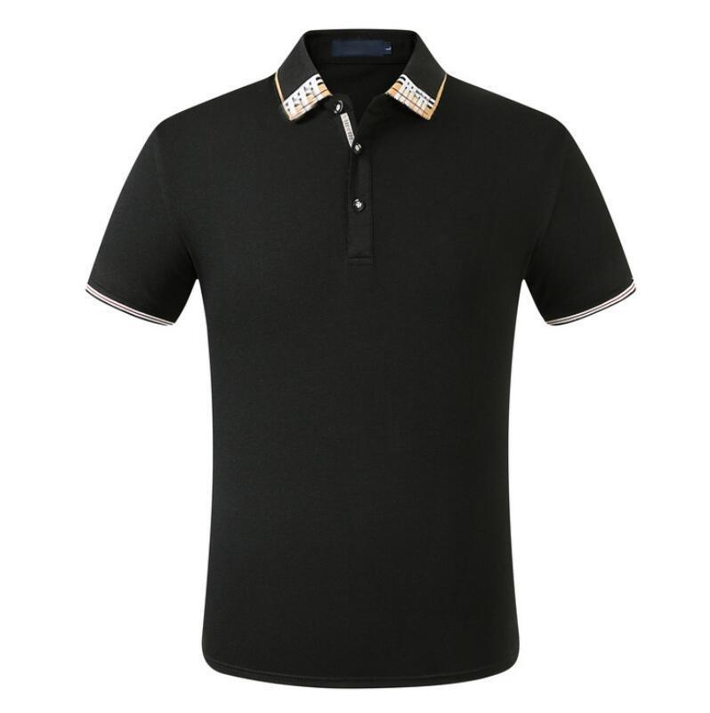 Shirt Katı T Shirt Erkekler Lüks Erkek Te kısa Kollu Erkek Temel Top Pamuk Polos için Boys Marka Tasarımcı Pol
