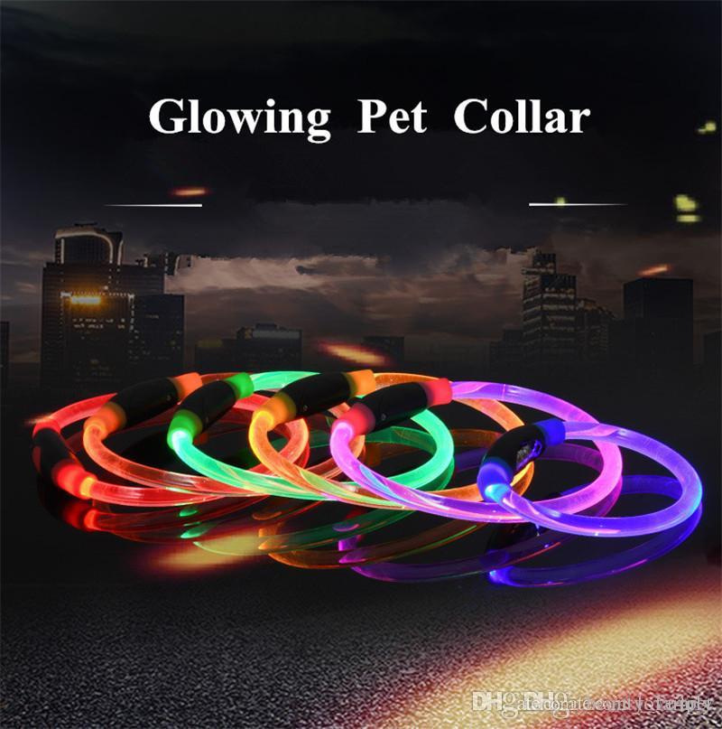 A57 Pet LED Collar Night Safety Glow Flashing Dog Cat Collars Led Luminous collares para perros