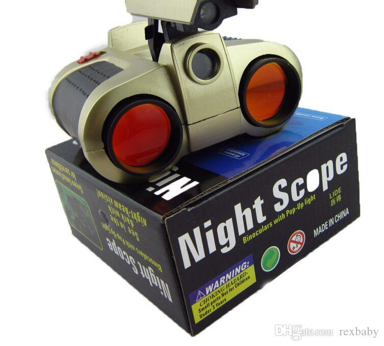 كبار الأزياء 1 قطعة 4x30 مجهر تلسكوب المنبثقة ضوء الليل للرؤية نطاق مناظير الجدة الأطفال التكبير