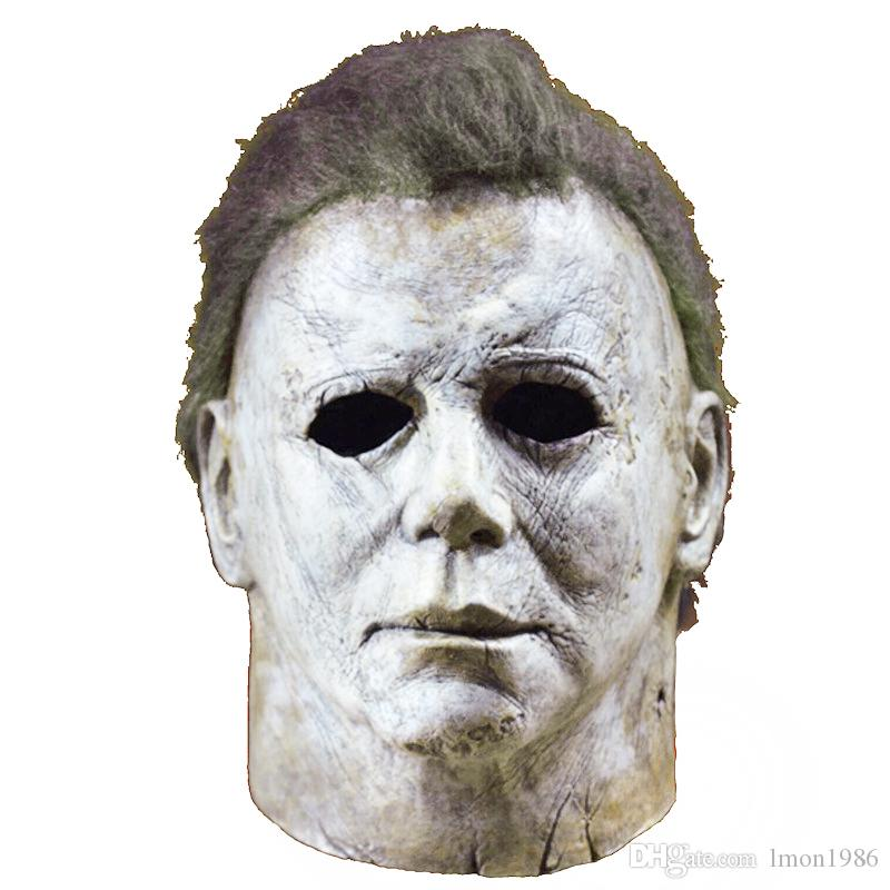 Hot Sale Movie Horror Michael Myers Mask Halloween 2018 Horror Movie  Cosplay Adult Latex Full Face Helmet Halloween Party Scary Props Australia  2019