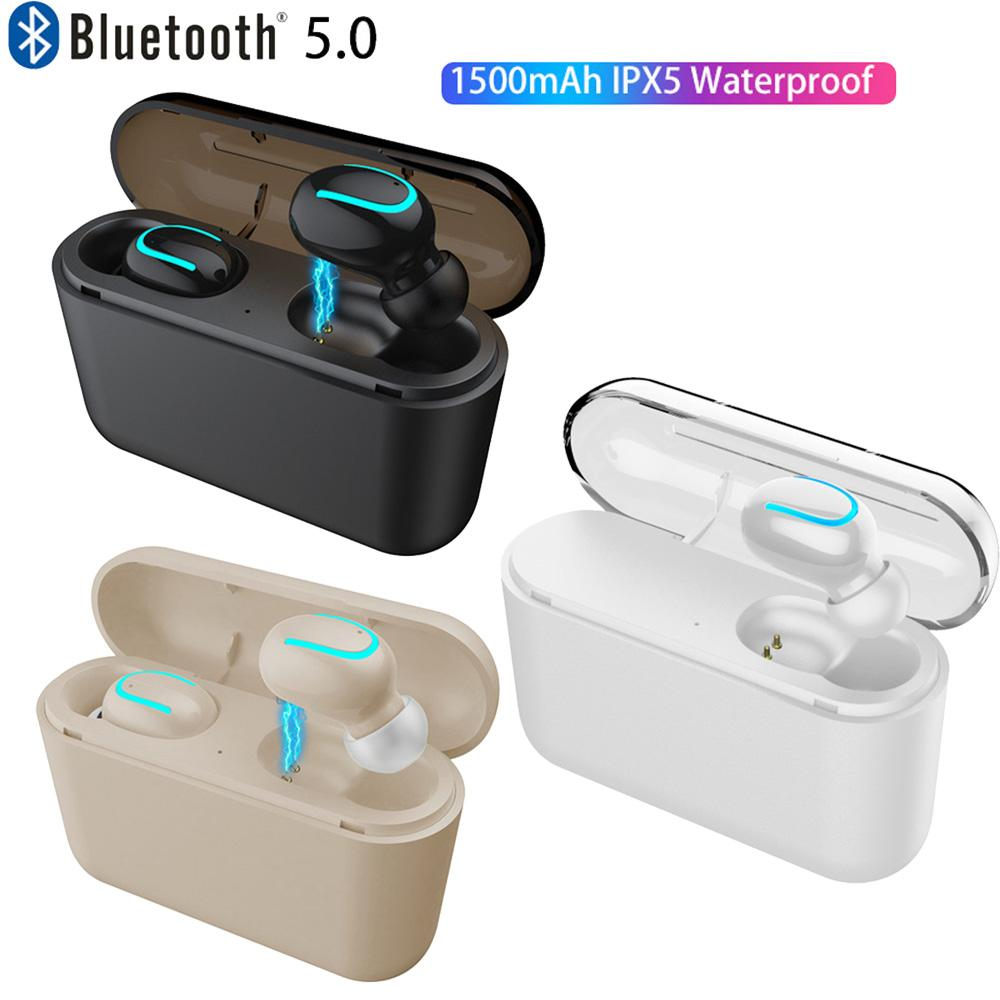HBQ-Q32 Ture 무선 블루투스 이어폰 TWS BT5.0 이어폰 마이크 스테레오 충전 박스 1500mAh 전원 은행 휴대 전화에 대 한