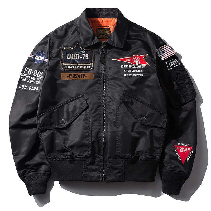 남자 재킷 재킷 편지 패턴 인쇄 야구 유니폼 느슨한 긴 소매 옷깃 지퍼 패션 착용