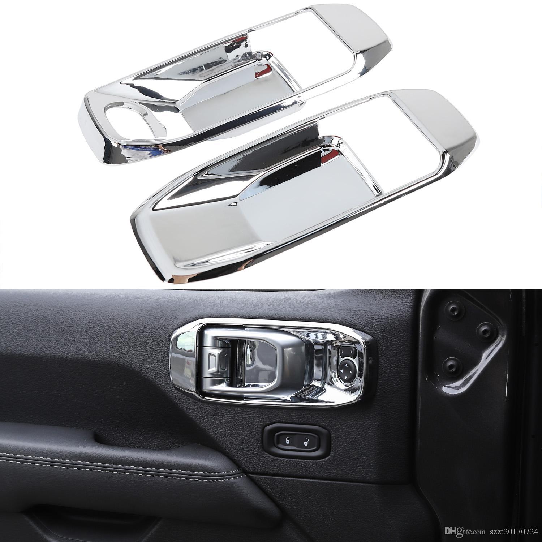 2 Türinnentür Schüssel Dekorative Chrome für Jeep Wrangler JL 2018 Factory Outlet Hohe quatlity Auto Internes Zubehör