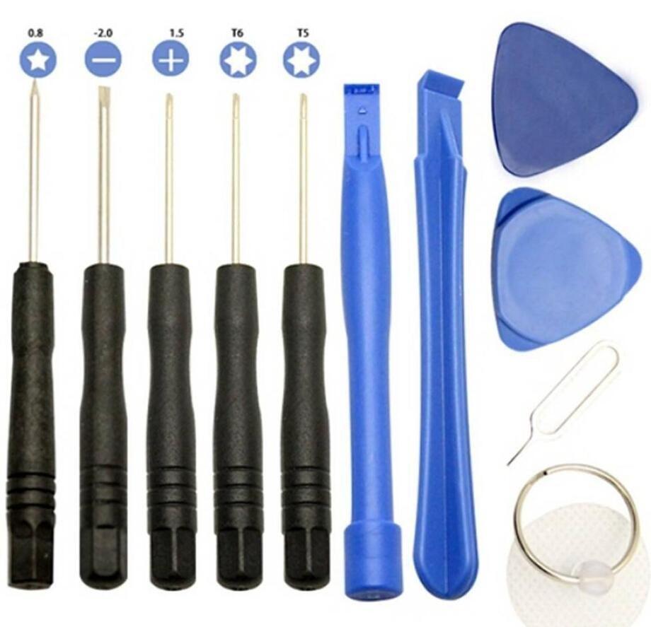 Neuer Fachmann 11 in 1 Phones Handy-Öffnungs-Hebel-Reparatur-Werkzeug-Kits Smartphone Schraubendreher-Werkzeug-Satz für iPhone Samsung HTC Moto Sony
