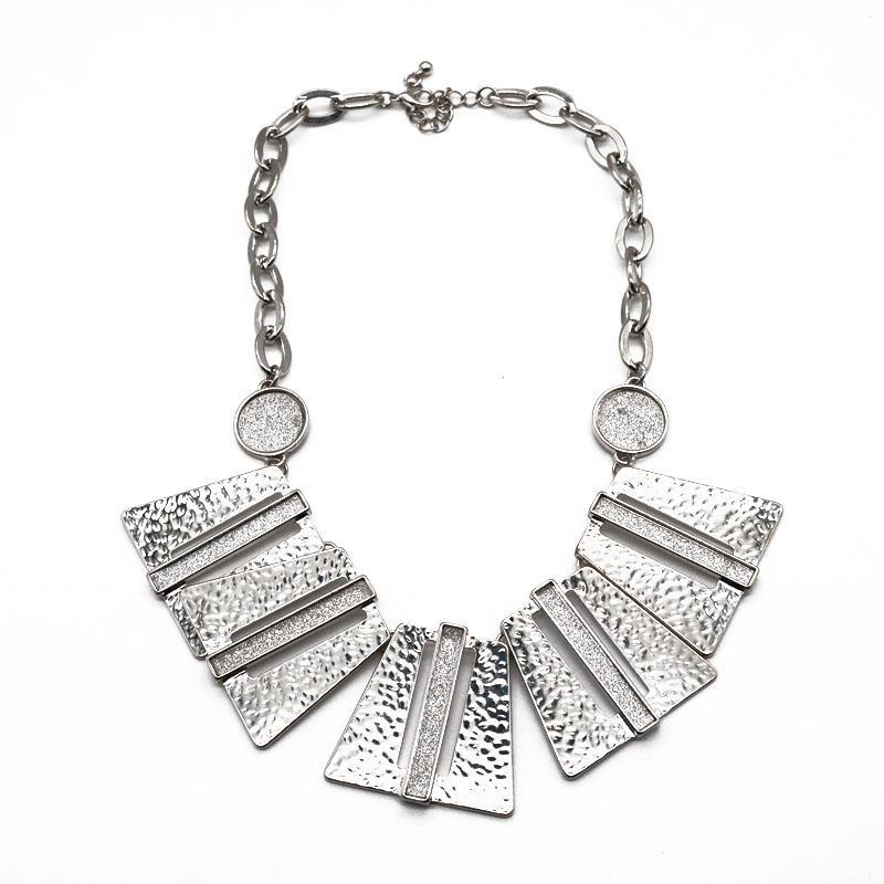 Ücretsiz Kargo Geometrik Dövme kolye, Geometrik Alaşım Glitter gerdanlık Yaka Bildirimi Kolye için Kadın Chunky Stiller
